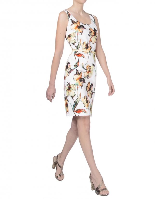 Vestido tirantes estampado floral