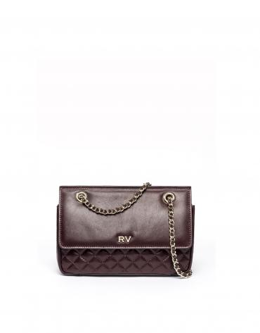 Burgundy leather Ghauri shoulder bag
