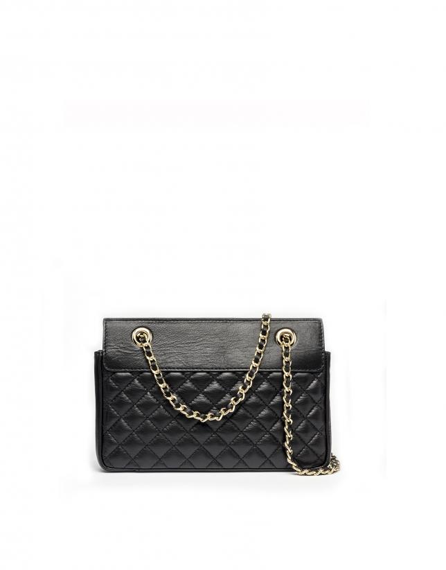 Black leather Ghauri shoulder bag