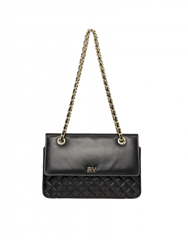 Black leather Ghauri shoulder bag