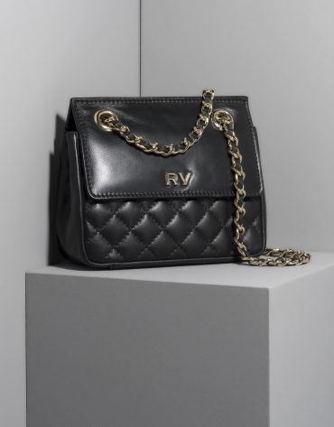 Black leather Ghauri mini shoulder bag