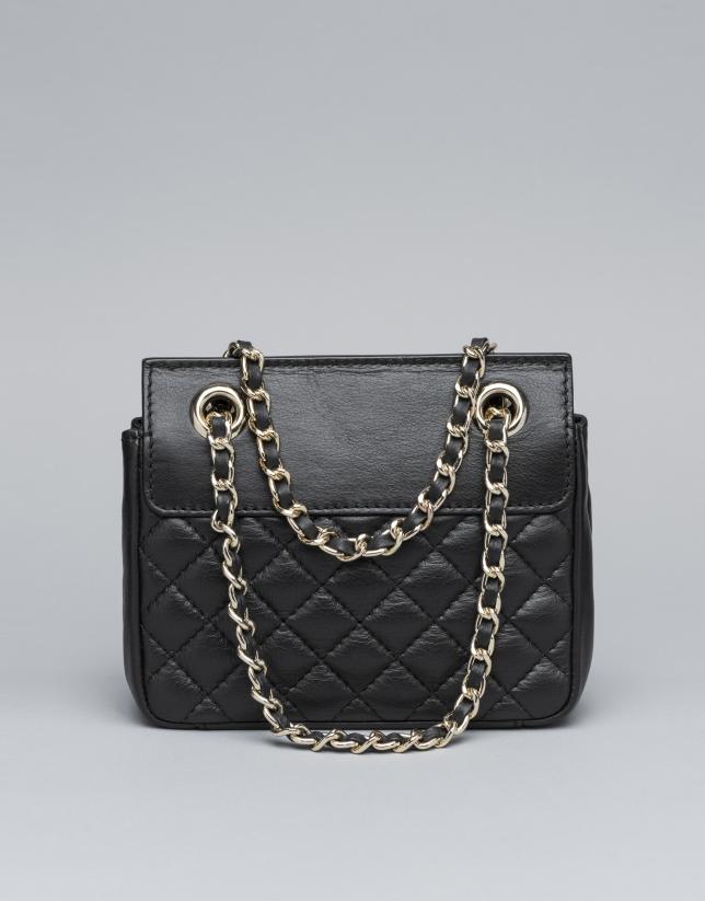 Black leather Ghauri mini shoulder bag