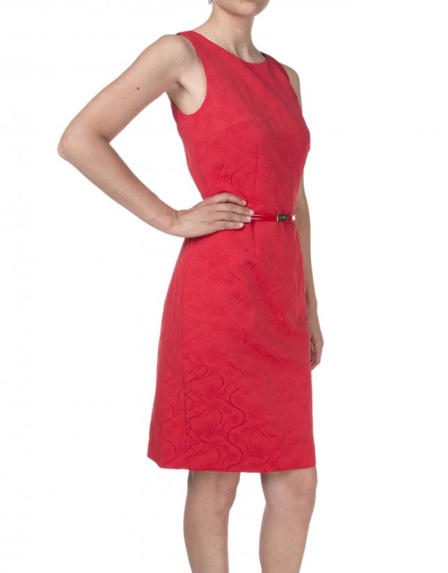 Vestido rojo escote fantasía