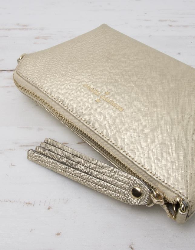 Gold Nano Lisa messenger bag