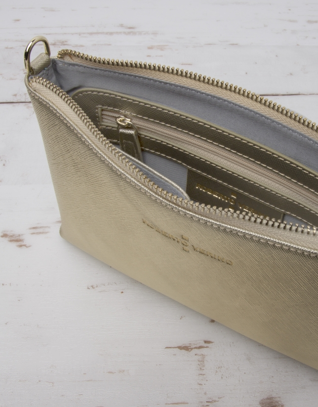 Gold Nano Lisa messenger bag