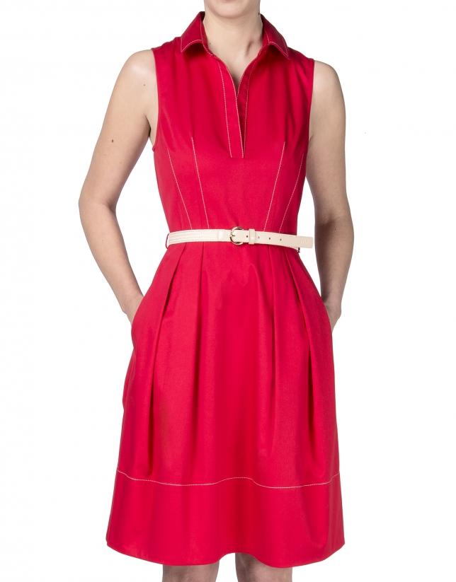 Vestido camisero rojo