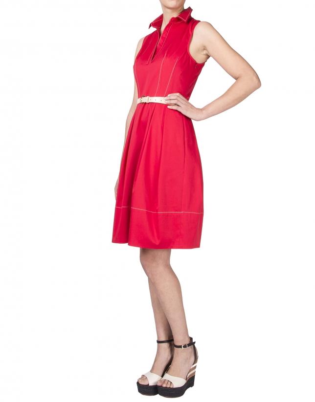 Robe chemise rouge
