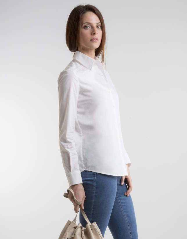 Long sleeved off-white shirt