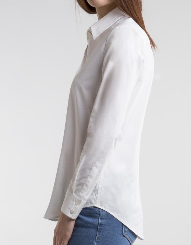 Camisa color crudo manga larga