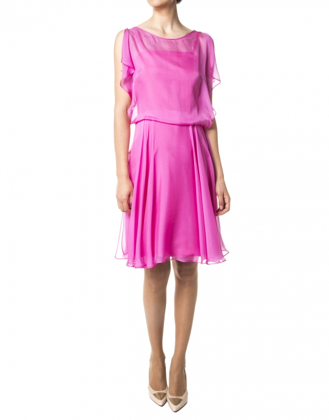 Fuchsia chiffon dress