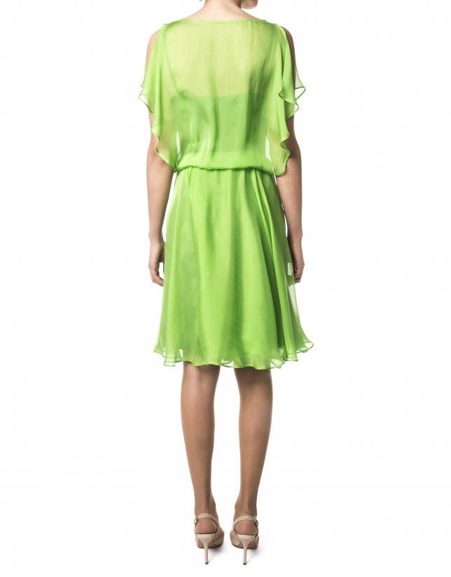 Vestido gasa verde