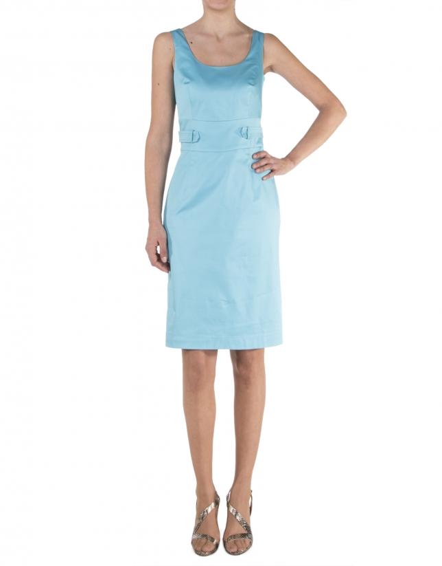 Blue sleeveless dress