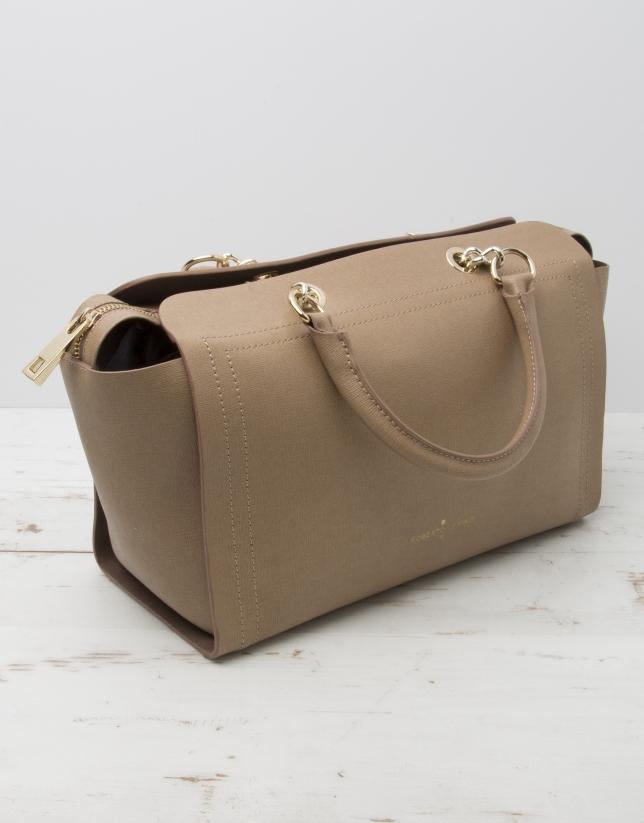 Camel Romeo satchel bag