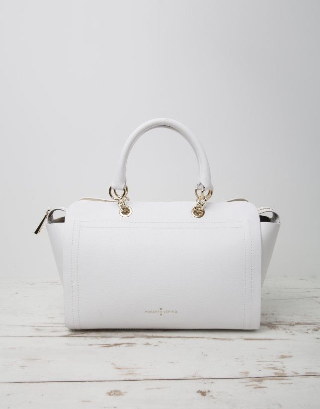 White Romeo satchel bag