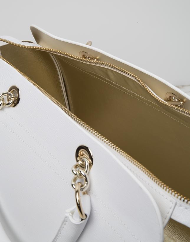 White Romeo satchel bag