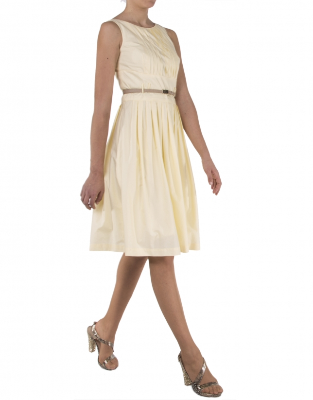 Yellow sleeveless dress
