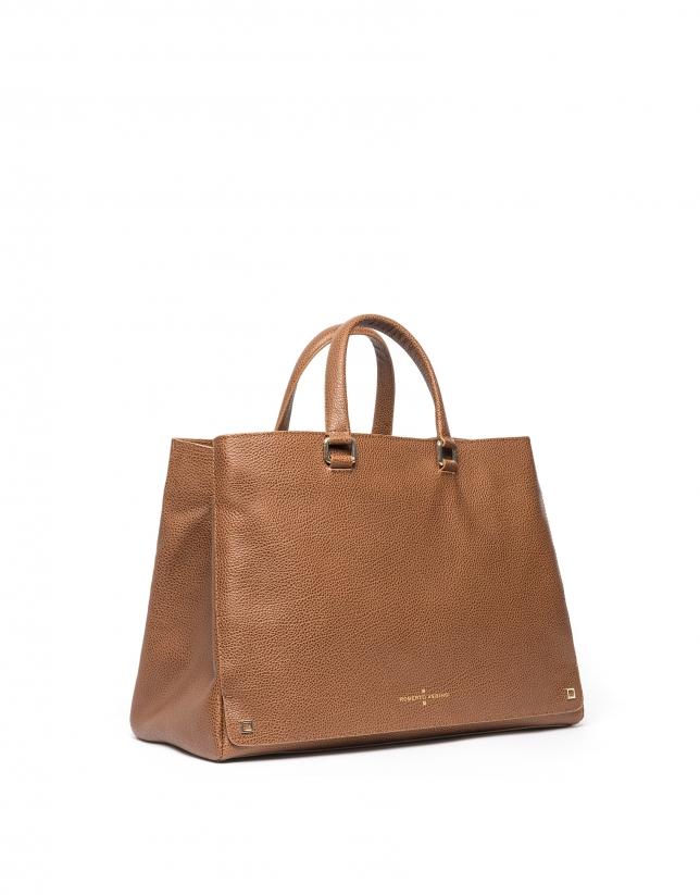 Tan Versalles leather tote bag