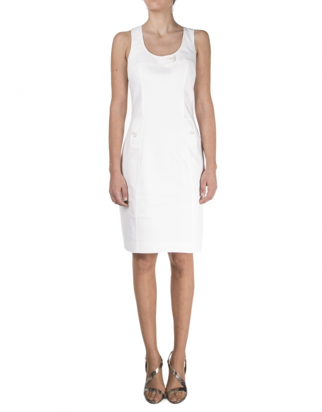 Off white sleeveless dress