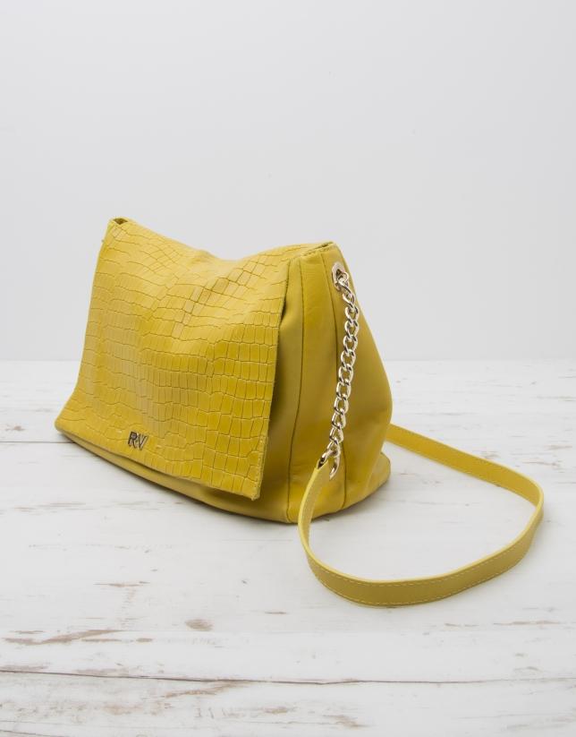 Bandoulière Olivia jaune