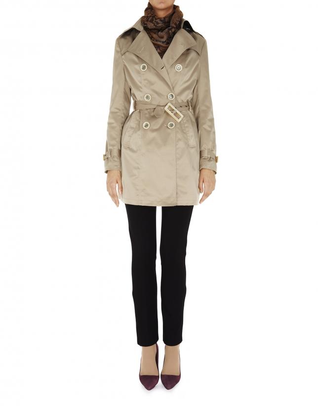 Beige raincoat