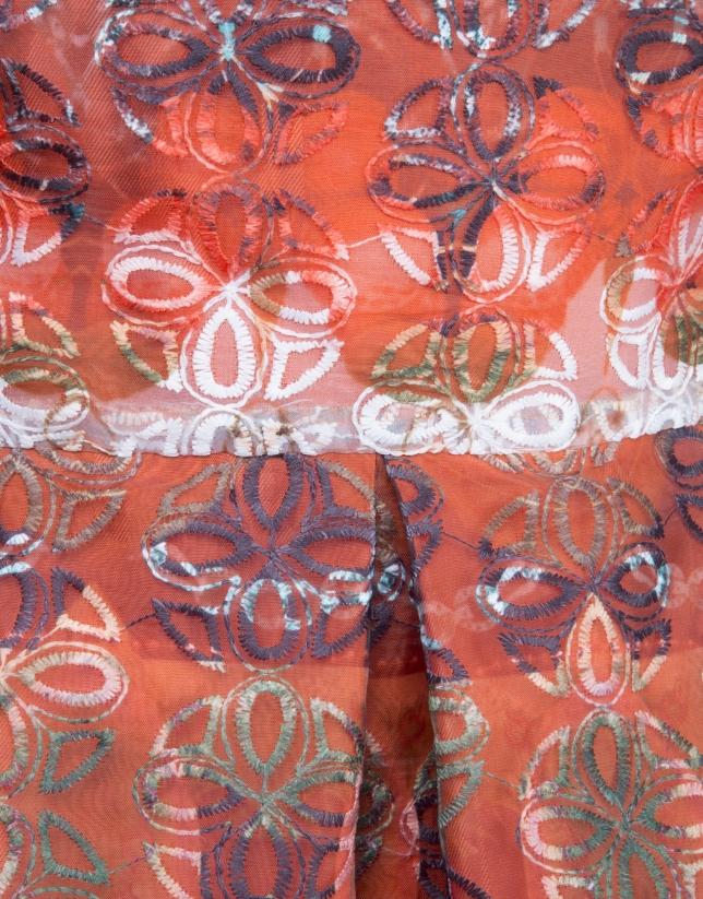 Print dress with full skirt