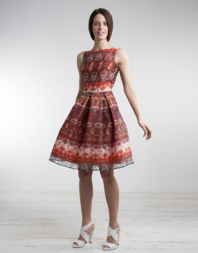 Vestido Vuelo Estampado Vestidos Mujer Roberto Verino