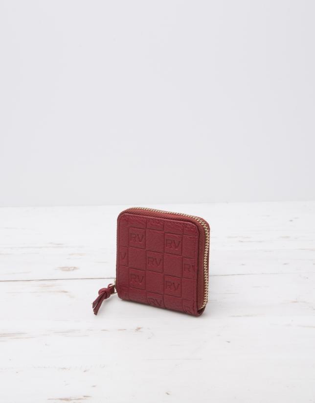 Porte-monnaie à logos rouge