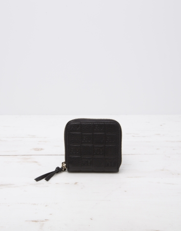 Black change purse with logo