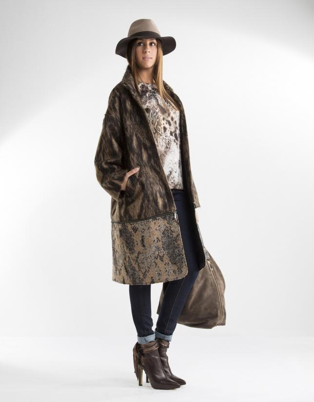 Manteau amovible marron