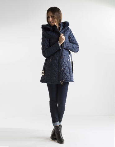 Long blue anorak