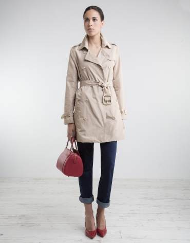 Trench couleur camel