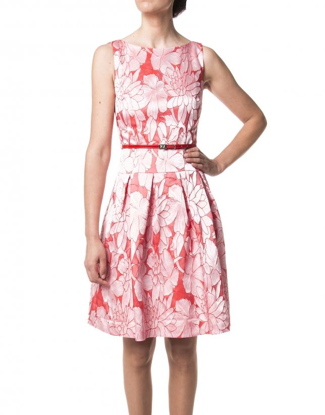 Vestido flor rojo