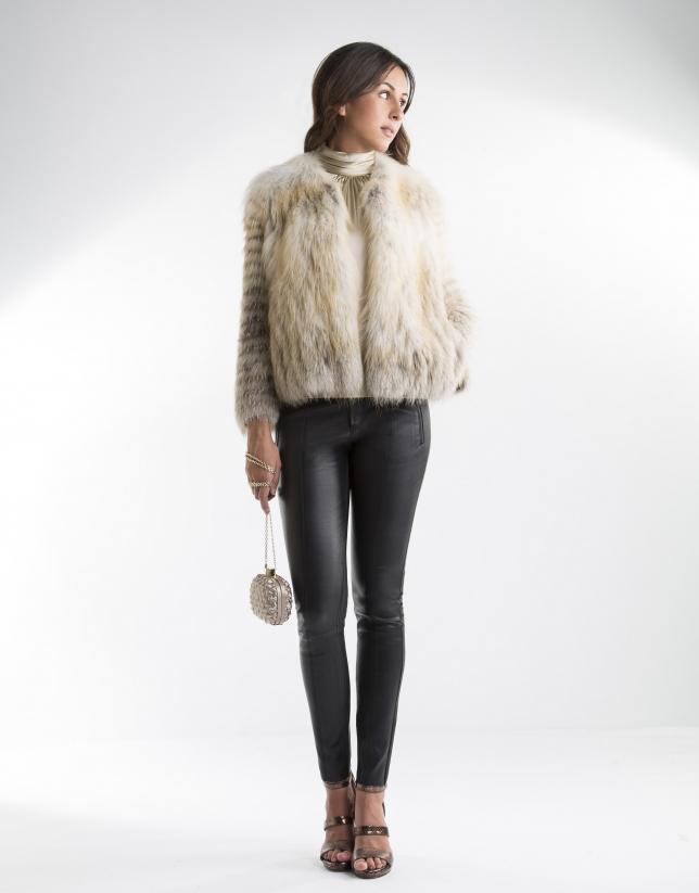 Sandy-colored fox jacket