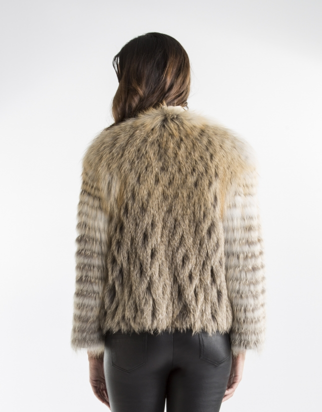 Sandy-colored fox jacket