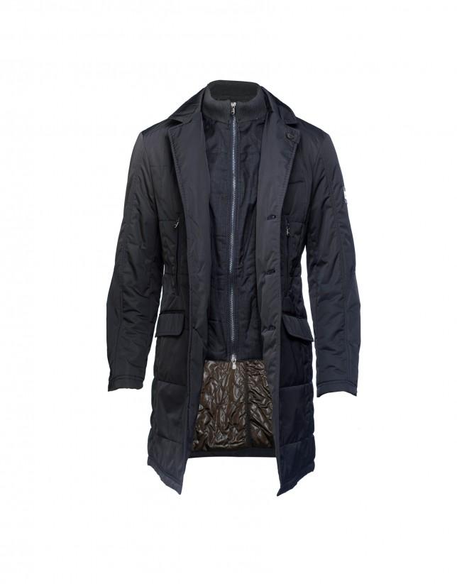 Dark blue quilted coat