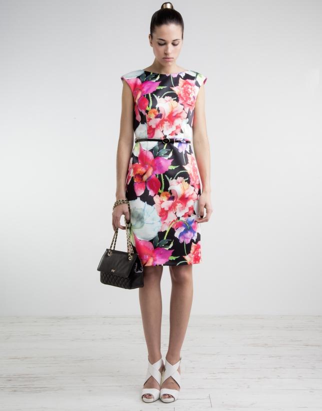 Vestido recto estampado floral
