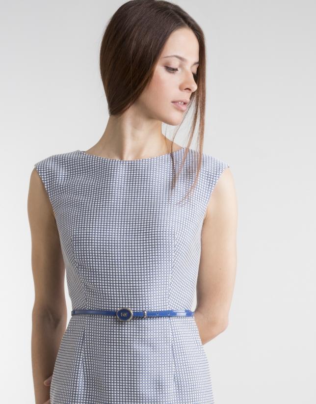 Blue straight dress