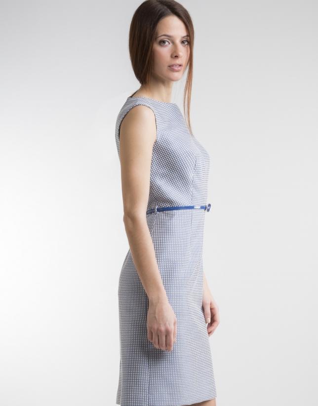 Vestido recto azul