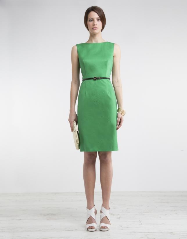 Green straight dress