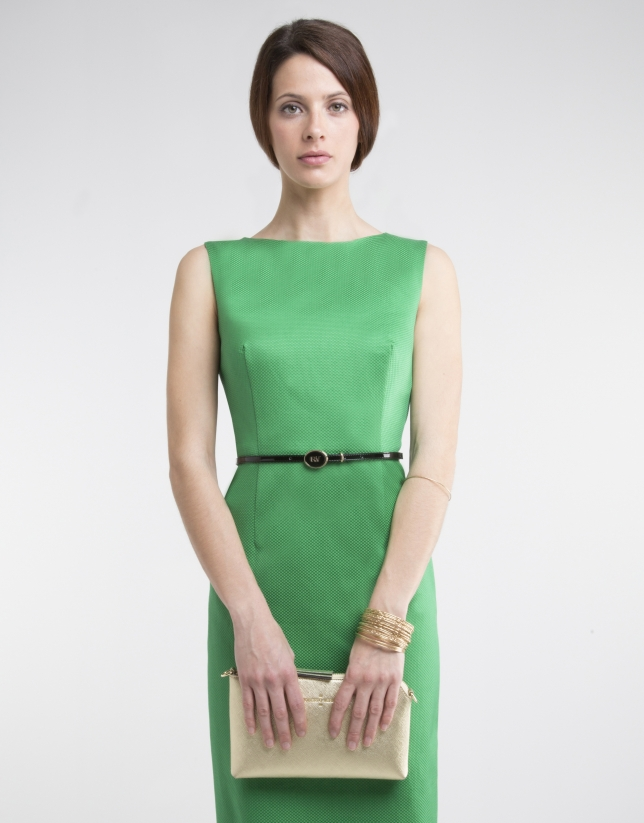 Vestidos verdes rectos