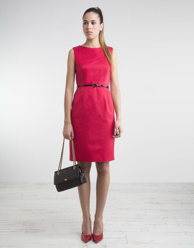 Vestido recto rojo