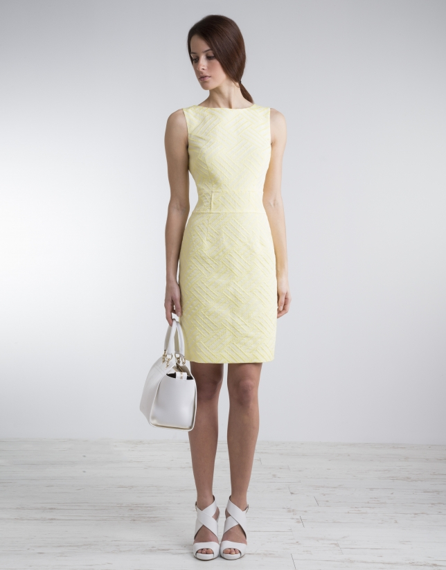 Yellow straight dress
