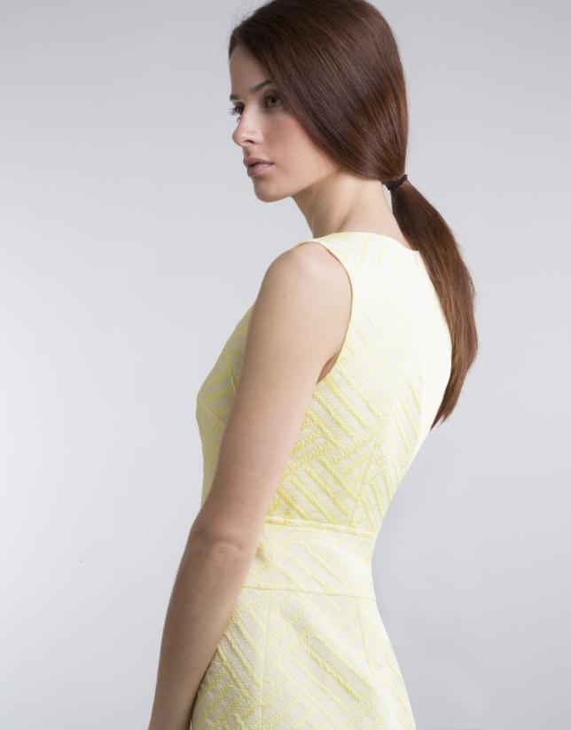 Vestido recto amarillo