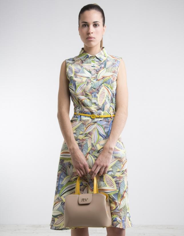 Print shirtwaist dress