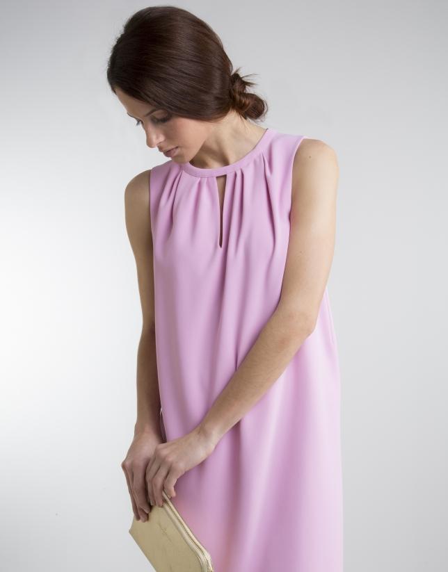 Vestido fluido rosa