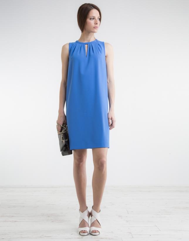 Blue loose dress