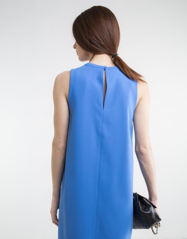 Vestido fluido azul