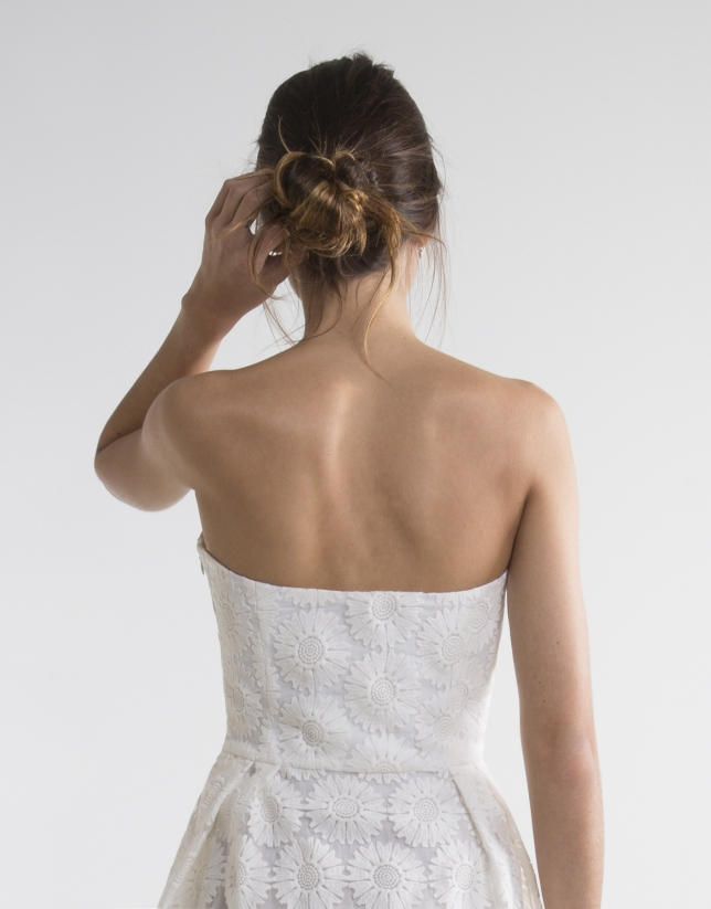 Robe bustier blanc