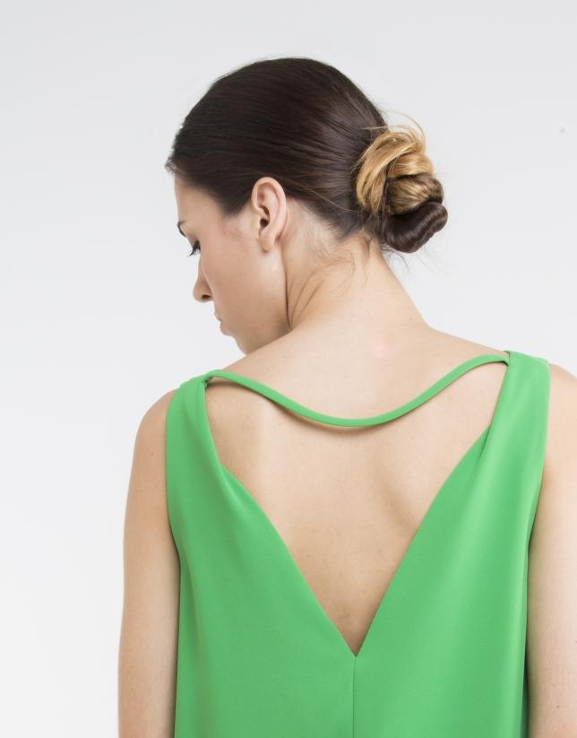 Green loose dress