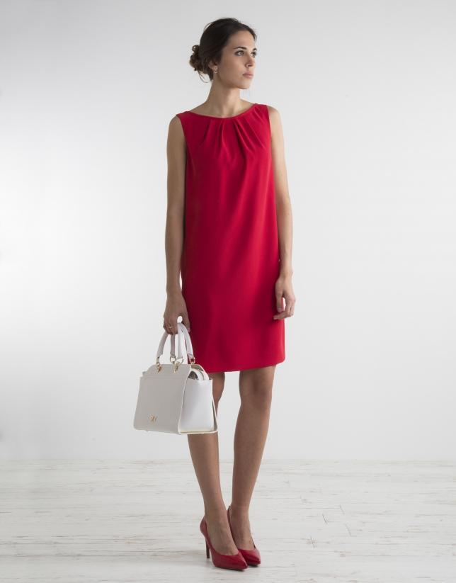 Vestido fluido rojo